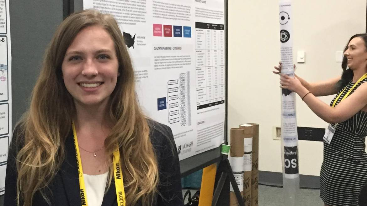 Sam wins Honorable Mention in the Undergraduate Poster Competition at ASCB! Congrats Sam!